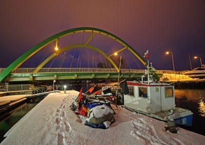 Most podwieszany w Darłowie