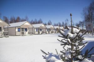 Zima w Darłówku Domki Morska Przystań