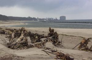 Plaża w Darłówku poza sezonem letnim