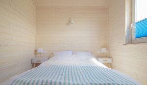 sypialnia domki Morska Przystań