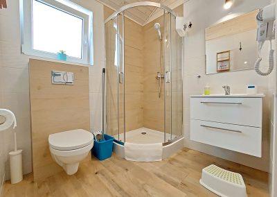 łazienka domki Darłówko